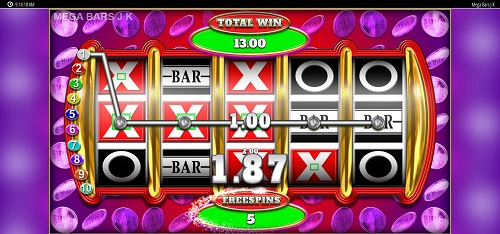 Mega Bars Jackpot King Video Slot